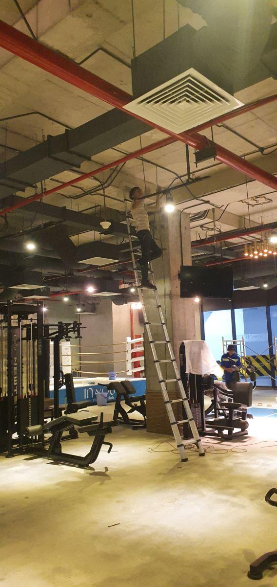 Thi công lắp đặt camera giám sát tại phòng tập gym quận 10